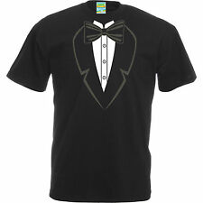 Tuxedo T-Shirt. Funny Tee Comedy Novelty T-shirts Stag Party Gift