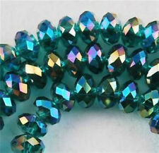 6x8mm Peacock Green Crystal Loose Bead 360pcs
