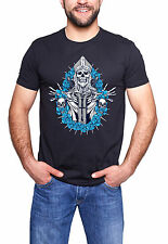 Reaper Skull King Queen T-Shirt mens Biker metal rock goth punk reaper  tee top
