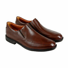 Clarks Unbizley Lane Mens Brown Leather Casual Dress Slip On Oxfords Shoes