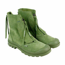 Palladium Pampa Hi Sopopular Mens Green Canvas Casual Dress Boots Shoes