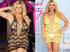 PLUS SIZE Lingerie Sexy Mini Chemise Dress Lace Babydoll 2XL Intimate Erotic