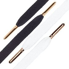 Mr. Lacy Flatties Shoe Laces With Metal Gold Tips