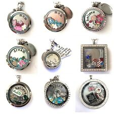 Large Stainless Steel Floating Charm Locket Themed
