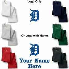 Detroit Tigers Logo Embroidered Golf Sport Towel Reg. or Custom/Personalized