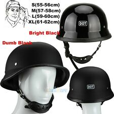 German Novelty Flat Black Motorcycle Half Helmet Cruiser Biker S,M,L,XL 2 Color