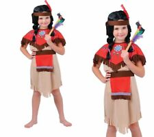 Girls Native American Indian Fancy Dress Costume Childs Kids Outfit Book Day S-L