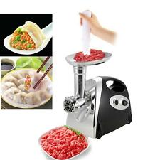 Stainless Steel 2800W Electric Meat Grinder Mincer Sausage Stuffer with 4 Blade