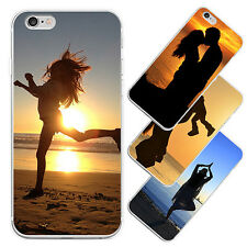Sunset Silhouette Print Phone Case Cover for iPhone 6S Samsung Galaxy S6 Magic