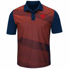 Washington Nationals Majestic Late Night Prize Polo - Red/Navy - MLB