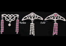 CZ TRIBAL SHIELD Top Down Inverted Reversed Belly Button Ring Navel Dangle Bar