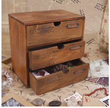 Table Stand Vintage Small Storage Cabinet Sundries Jewelry Chest of Drawers