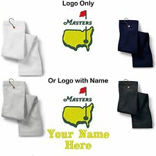 The Masters Golf Logo Embroidered Sport Towel Logo Only or Custom/Personalized