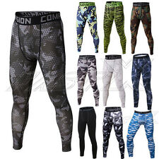 Mens Workout Sports Athletic Tights Gym Compression Pants Jogging Trousers New