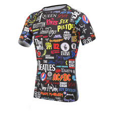 Men Cycling Bike Bicycle Jersey Short Sleeve Sport Gym Running T-Shirt Tight Top