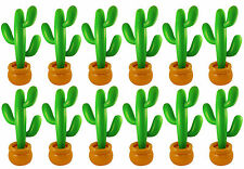 PACK OF 12 INFLATABLE CACTUS JUMBO 86 CM MEXICAN SCENE SETTER PARTY DECORATION