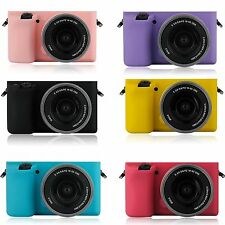 Color Silicone Armor Skin Case Bag Camera Cover Protector For Sony A5100 A5000