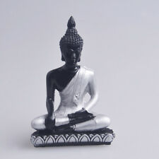 Thai Seated Buddha Statues Meditation Sculpture Hand-painted Sakyamuni Figurines