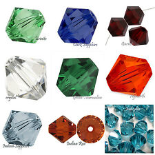 Authentic Swarovski Crystal  #5301,#5328 4mm Bicone Beads 30pcs pick color