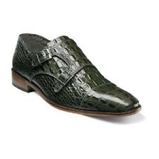 Stacy Adams Golato Mens shoes Olive cap toe double monk strap leather 25117-303