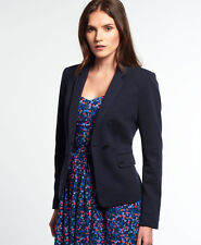 New Womens Superdry Pippa Jersey Blazer Navy
