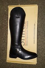 SHIRES LONG BLACK LEATHER BOOTS HORSE RIDING FOOTWEAR STABLE YARD UK 7 EURO 41