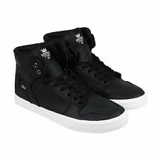 Supra Vaider Mens Black Mesh High Top Lace Up Sneakers Shoes