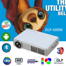 Wifi Full HD 1080P LED DLP 3D Mini Portable Projector Home Theater HDMI VGA USB
