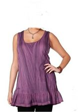 ROMANTIC VALANCE TOP LONGTOP SHIRT PURPLE NEW STYLE SHEEGO SIZE 44 46 48 NEW