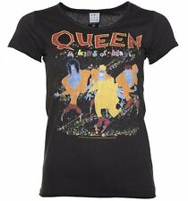 Official Women's Charcoal Queen A Kind Of Magic T-Shirt from Amplified