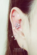 16g flower cartilage earring, tragus helix conch earrings, labret (optional),1pc