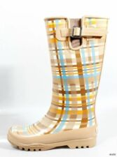 new SPERRY Top-Sider 'Pelican' camel plaid fleece-lined SNOW RAIN BOOTS US 5