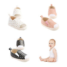 PU Leather Infant Toddler Polka Dots Crib Bebe Unisex Cute Kids Prewalker Shoes