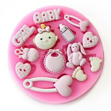 Baby Shower - Baby GIRL - Party 3D Silicone Mould Fondant Cake Decorating Topper