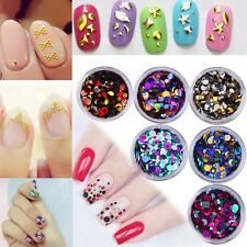 Fashion DIY Nail Art Water Stickers Transfers Decals Flower Bead Rhinestone 3D