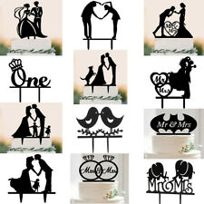 Wedding Engagement Party Bride &Groom Birds Acrylic Cake Decoration Toppers