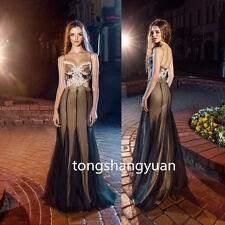 Lace Applique Prom Dresses Evening cocktail Party Bridesmaid Gowns Custom A-Line
