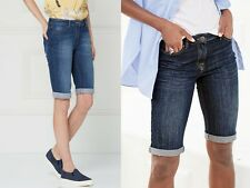 "WOMENS LADIES ""EX NEXT"" DENIM COTTON RICH KNEE LENGTH SHORTS - SIZE 6-22"