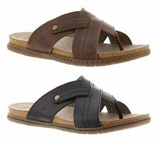 BORN Cool, Comfortable, Leather Summer Thong Sandals in Black and Brown