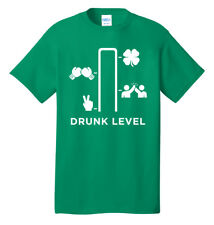 St Patrick's Day Drunk Level Green Beer Pub Crawl Holiday Drinking T shirt