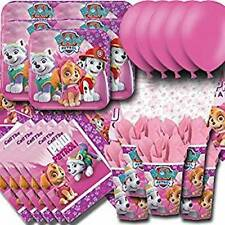 Paw Patrol Pink Essential Party Pack:Plates, Cups, Napkins, Tablecover, Balloons