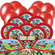 Paw Patrol Essential Party Pack:Plates, Cups, Napkins, Tablecover, Balloons