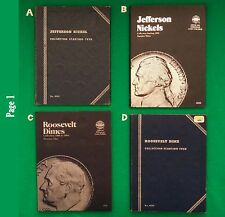 Albums or Single Coins - Jefferson, Roosevelt, Washington, Franklin, Kennedy +++