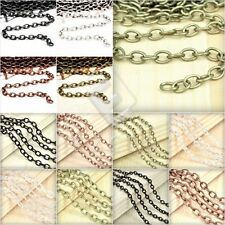 2/4M Iron Cable Chain Unfinished Chains 0.9x3/3.7x2.55/6.85x5mm Hot Sale