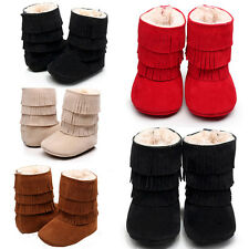 USA Baby Infant Child Boys Girls Warm Snow Boots Fur Winter Toddler Crib Shoes