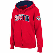 Houston Cougars Stadium Athletic Women's Arched Name Full-Zip Hoodie - Red