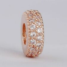 authentic 925 sterling silver Pave AAA CZ Spacer genuine charms Beads
