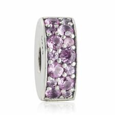 authentic 925 sterling silver Stopper Clip Bead AAA CZ genuine charms Bead