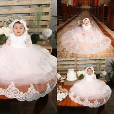 New Infant Baby Christening Baptism Formal Ball Gowns Lace Outfits Newborn-24 M