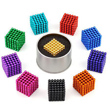 216pcs 5mm Magnet beads Neodymium Magnetic Balls Cube Sphere DIY Stress Relief